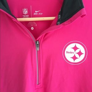 Nike Tops - Nike Steelers Pink Thumb Hole Long Sleeve L a932d2e94